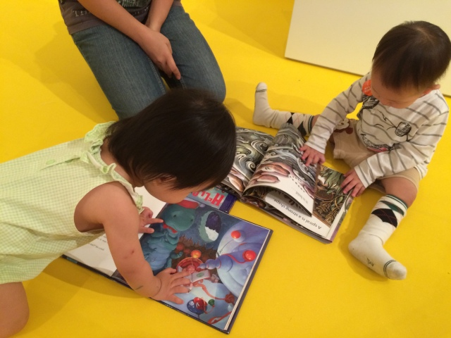 Asher and E reading