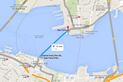 Ferry route