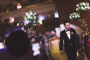 Groom and bride made their 2nd entrance.