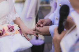 Exchanging rings.