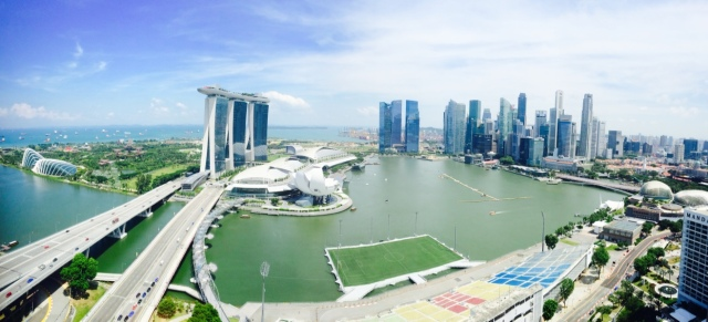 Marina Bay view from Ritz Carlton