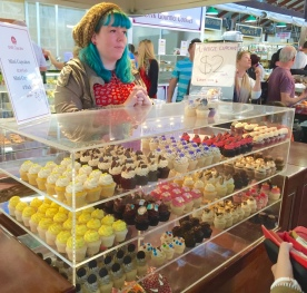 Mini cupcakes in Fremantle Markets