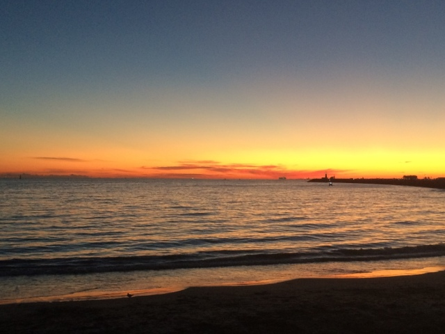 Twilight before dusk