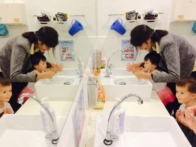 Hand washing in Wee Care