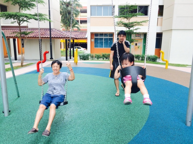 Swinging with 婆婆