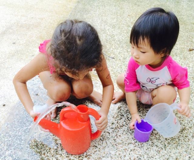 Water play at JB