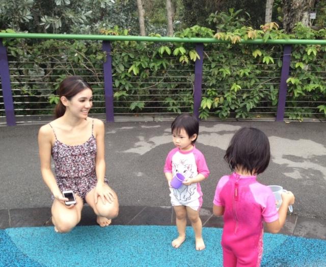 Having fun with LT at Children's Garden at GBTB