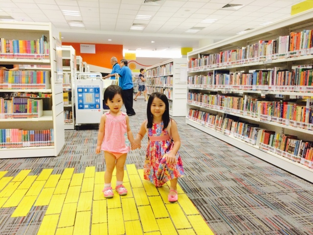 Vionn and Little E in Bishan NLB