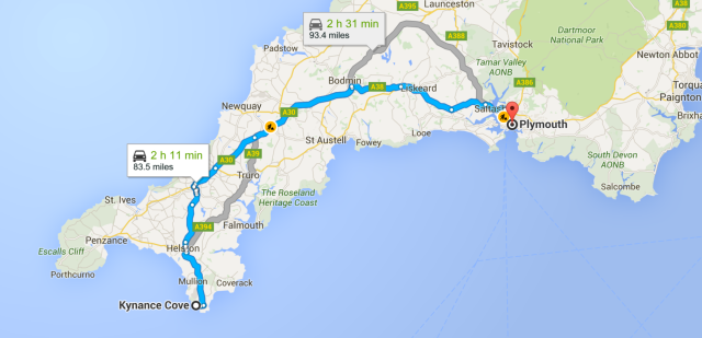 Map to Plymouth