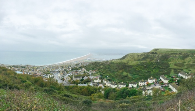 Lookout point over Chesil Beach