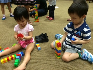 Little E building blocks with Joseph