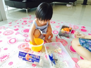 Engrossed in sensory play