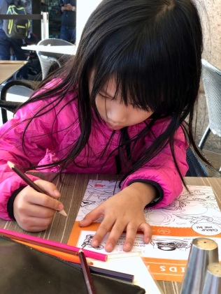 E colouring at Seafood Grill