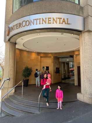 After checking in at Intercontinental