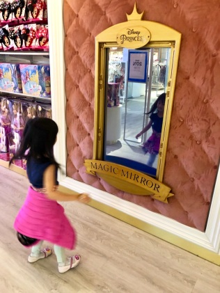 First, twirl in front of the mirror