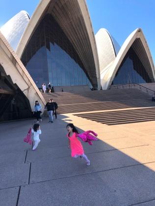 Running circles at Opera House