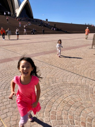 Running towards Opera House