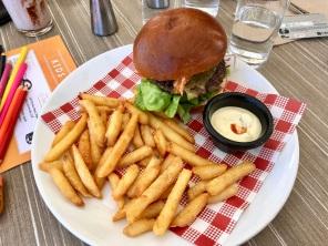 Wagyu beef burger at Seafood Grill