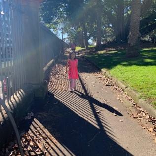 Walking back through the Botanic Garden of Sydney