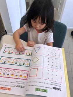 Sorting out patterns with stickers