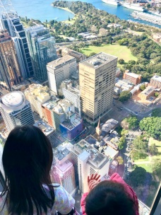 EH looking over Sydney Tower Eye